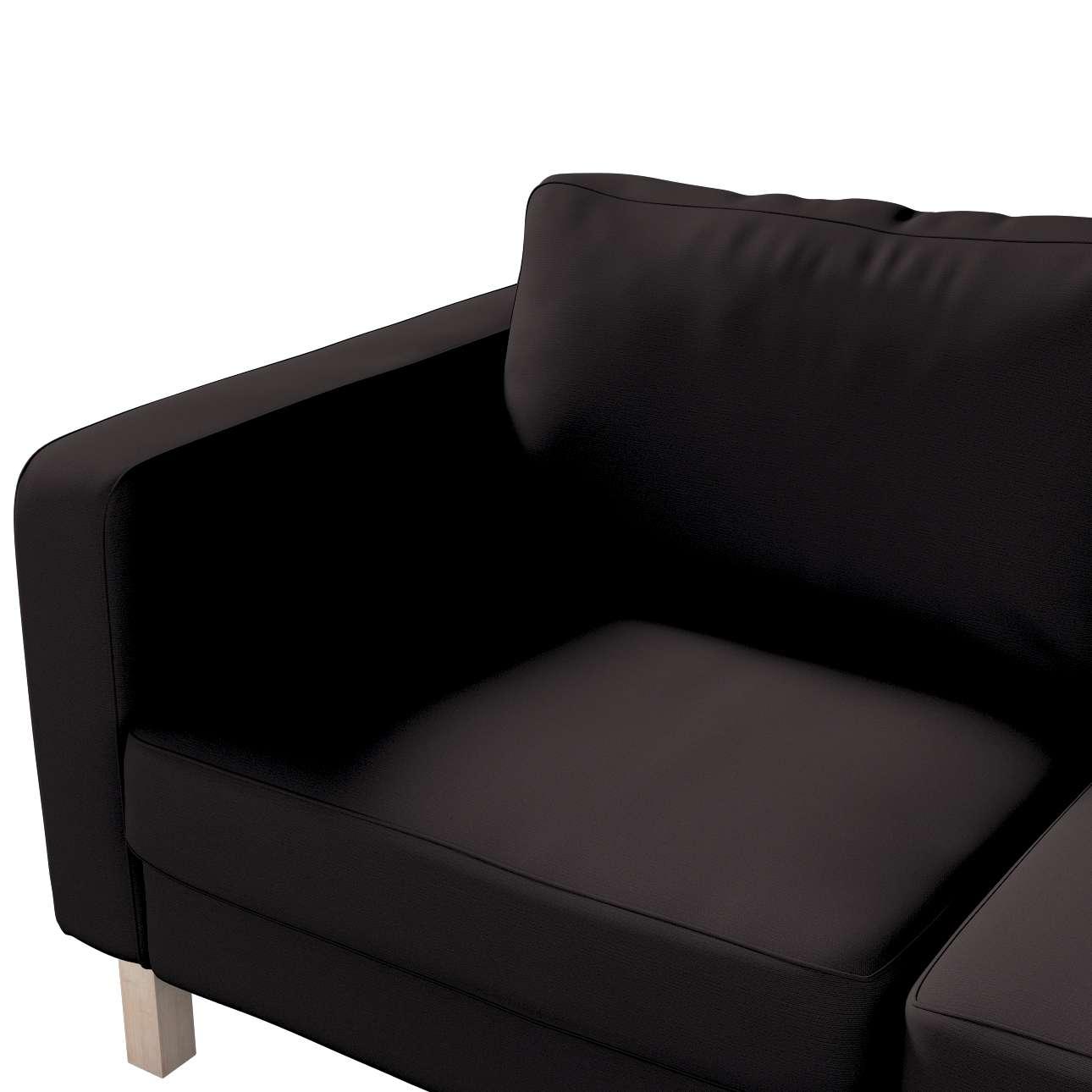 Karlstad klädsel 2-sits soffa - kort i kollektionen Panama Cotton, Tyg: 702-09