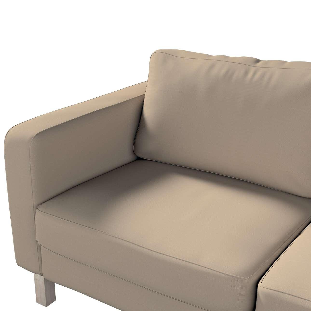 Karlstad klädsel 2-sits soffa - kort i kollektionen Panama Cotton, Tyg: 702-28