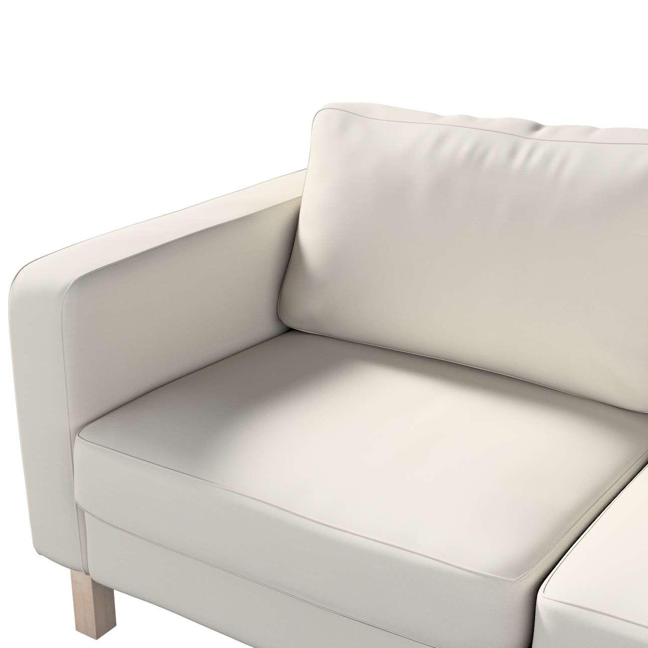 Karlstad klädsel 2-sits soffa - kort i kollektionen Panama Cotton, Tyg: 702-31