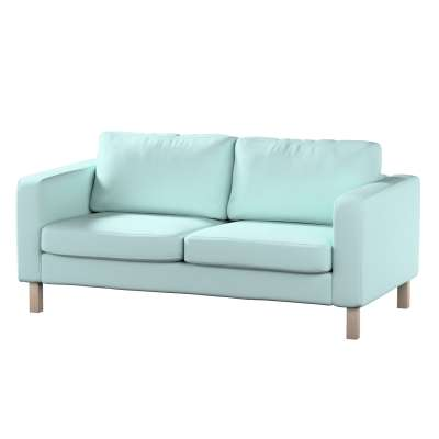 Karlstad klädsel 2-sits soffa - kort i kollektionen Panama Cotton, Tyg: 702-10