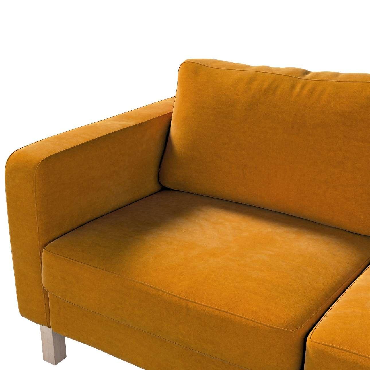 Karlstad 2-Sitzer Sofabezug nicht ausklappbar von der Kollektion Velvet, Stoff: 704-23