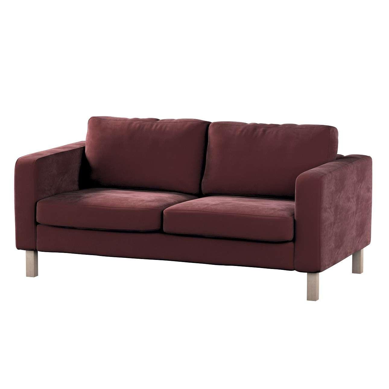 Karlstad klädsel 2-sits soffa - kort i kollektionen Velvet, Tyg: 704-26