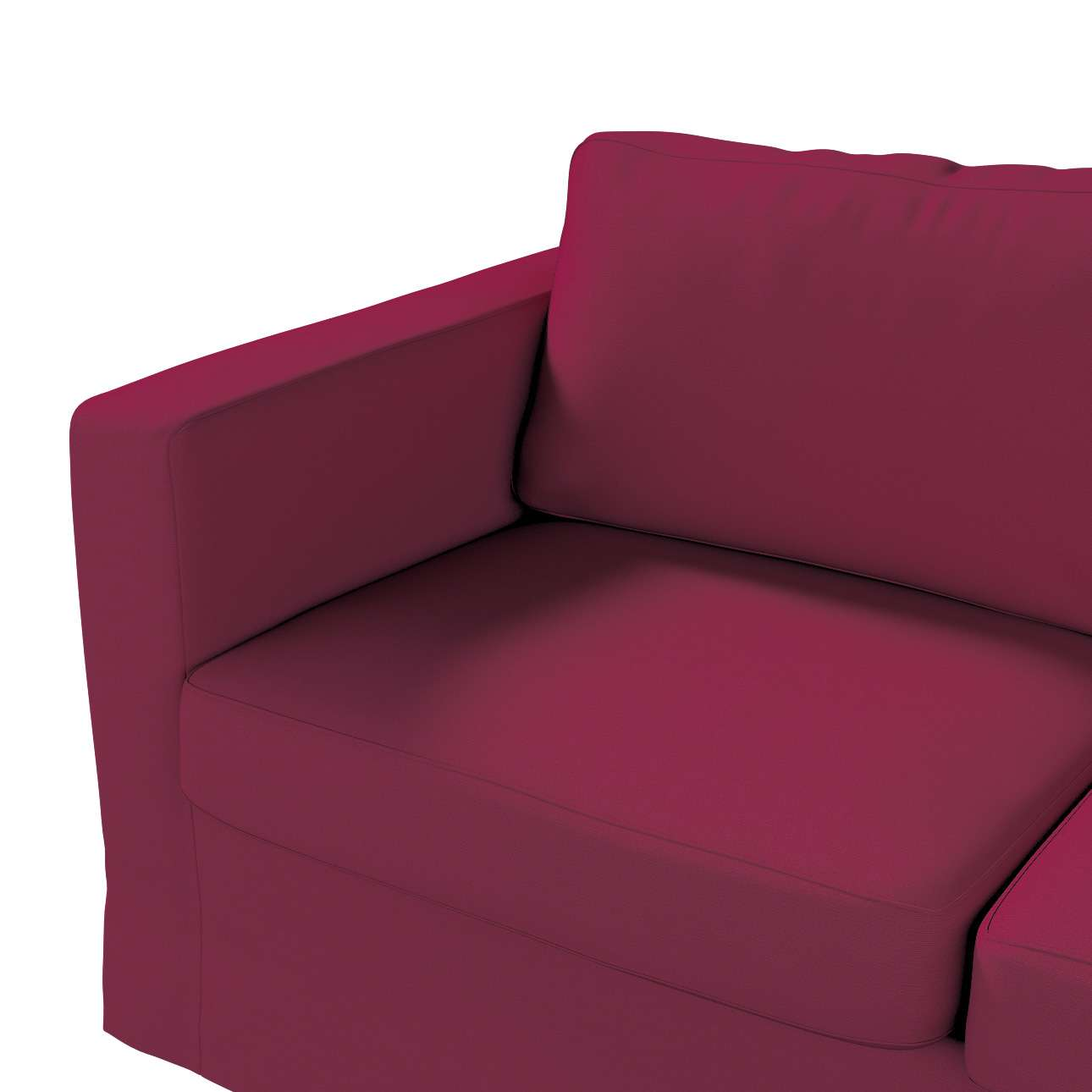 Karlstad klädsel 2-sits soffa -  lång i kollektionen Panama Cotton, Tyg: 702-32