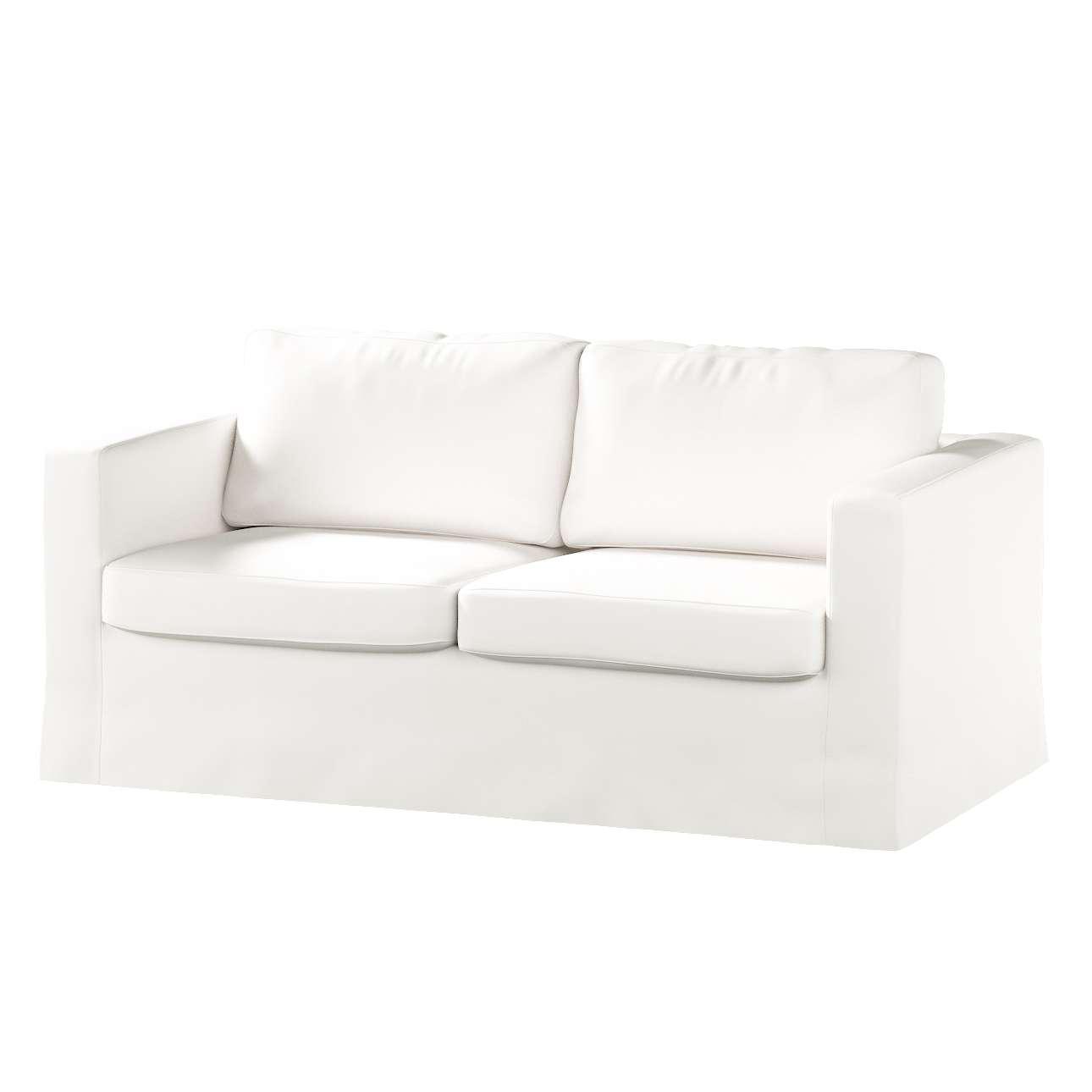 Picture of: Floor Length Karlstad 2 Seater Sofa Cover Pure White 702 34 Karlstad 2 Seat Sofa Dekoria