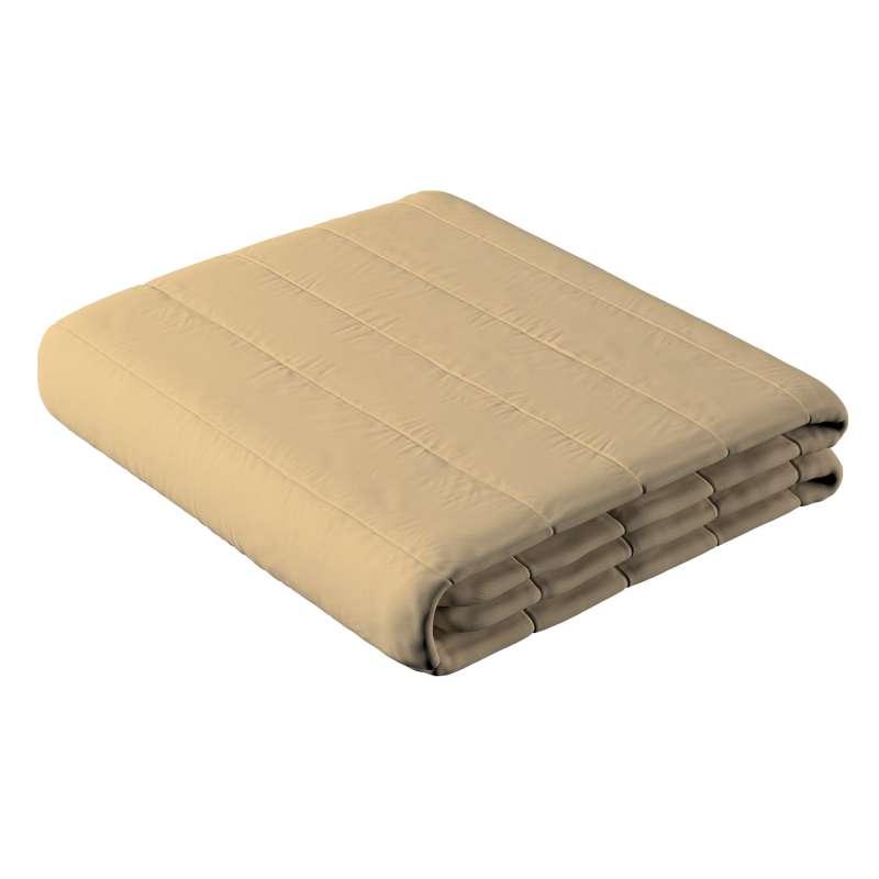 Sengetæppe quiltet<br/>10cm striber fra kollektionen Cotton Panama, Stof: 702-01
