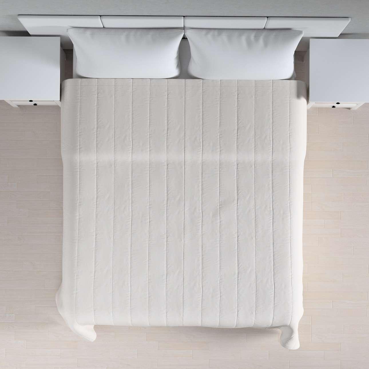 Sengetæppe quiltet<br/>10cm striber fra kollektionen Linen, Stof: 392-04