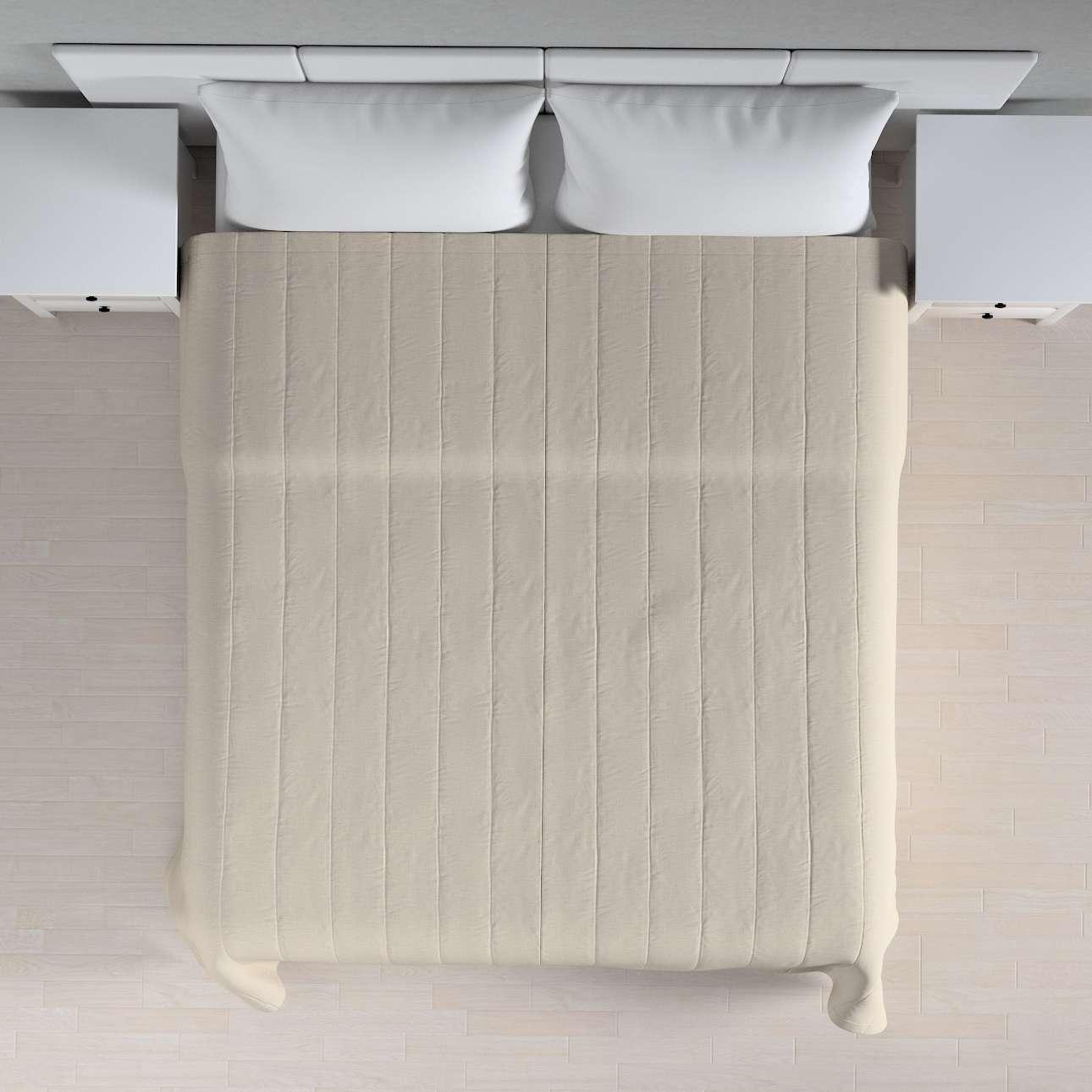 Sengetæppe quiltet<br/>10cm striber fra kollektionen Linen, Stof: 392-05
