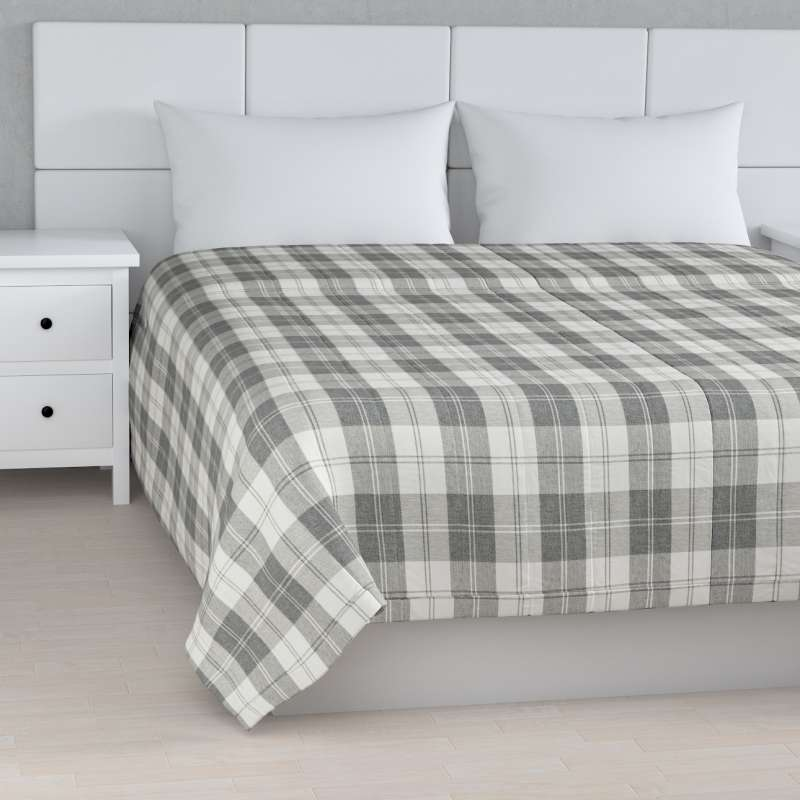 Stripe quilted throw in collection Edinburgh, fabric: 115-79