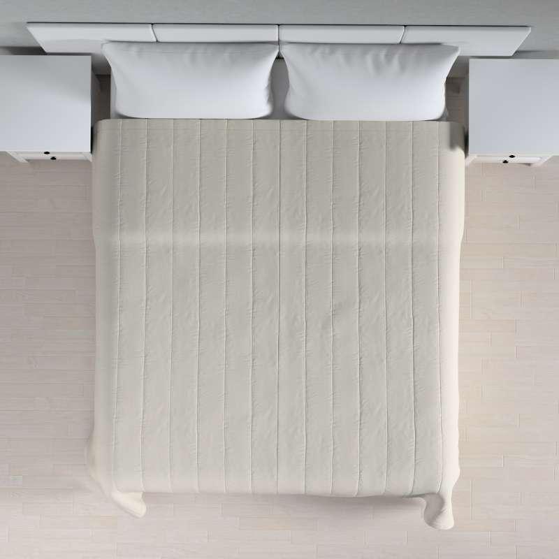 Tagesdecke mit Streifen-Steppung von der Kollektion Cotton Panama, Stoff: 702-31