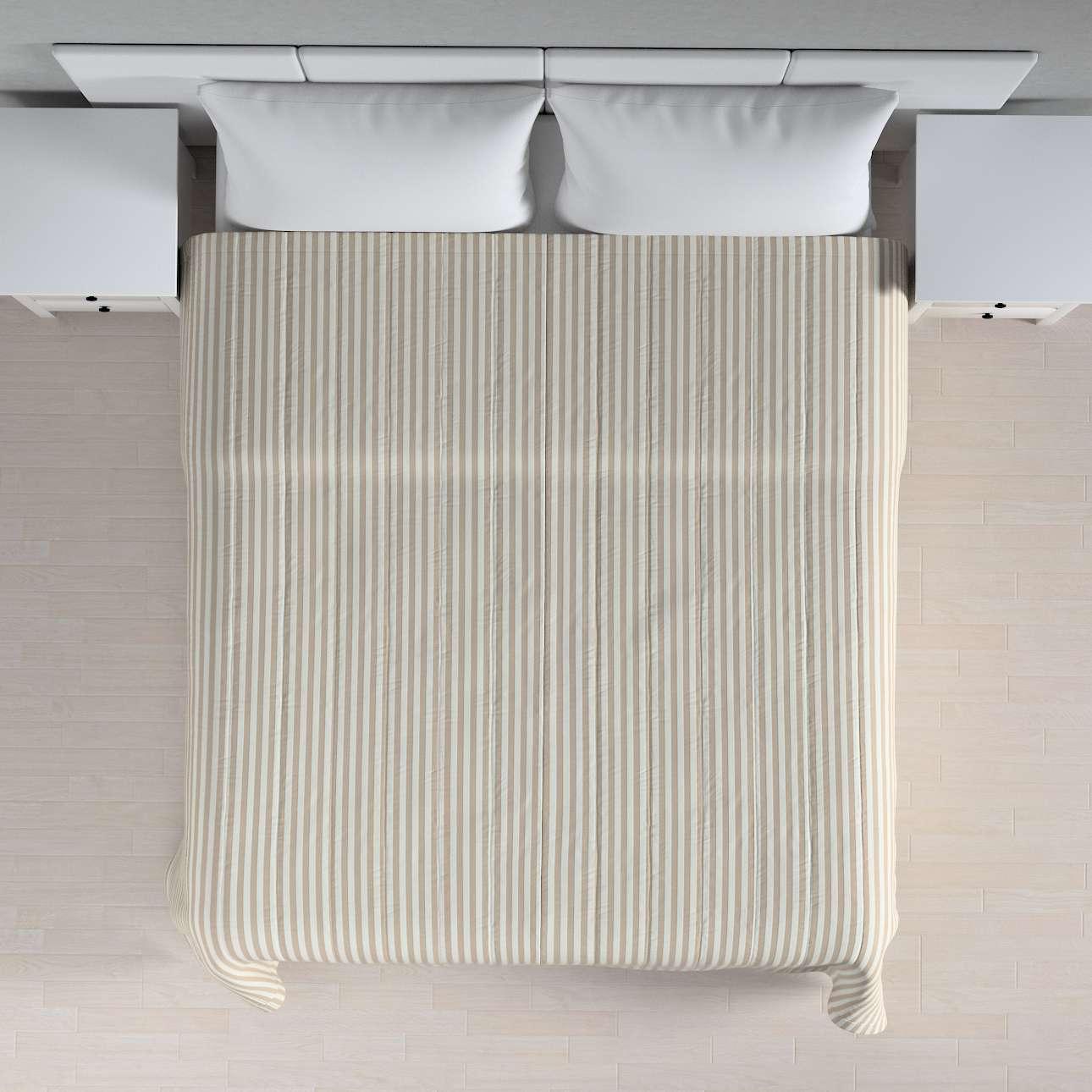 Sengeteppe quiltet<br/>10cm striper fra kolleksjonen Quadro, Stoffets bredde: 136-07