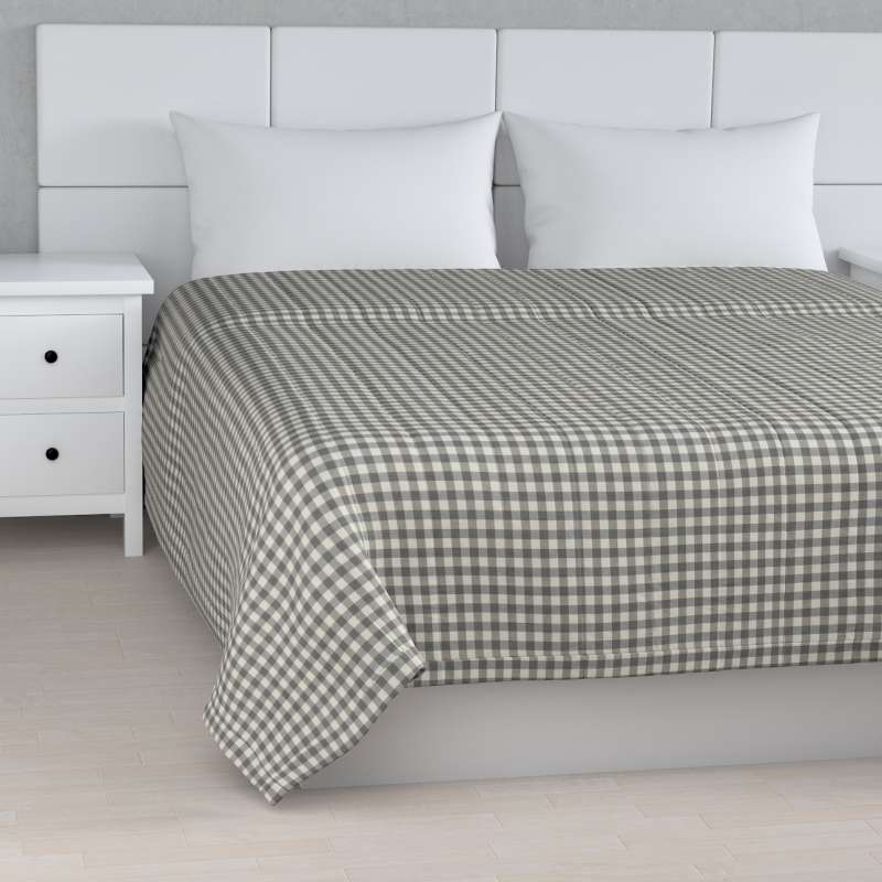 Stripe quilted throw in collection Quadro, fabric: 136-11