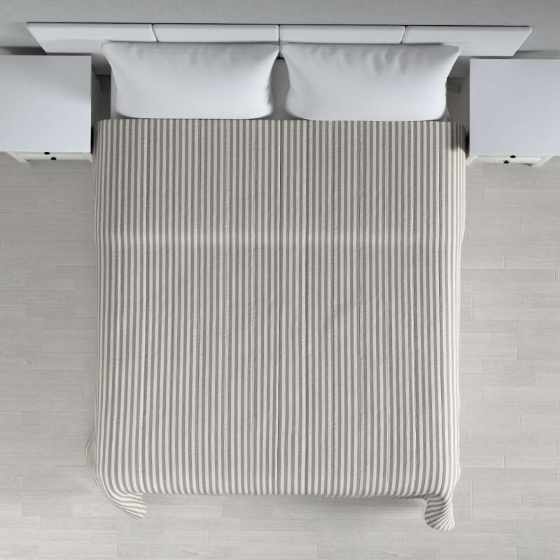 Stripe quilted throw in collection Quadro, fabric: 136-12