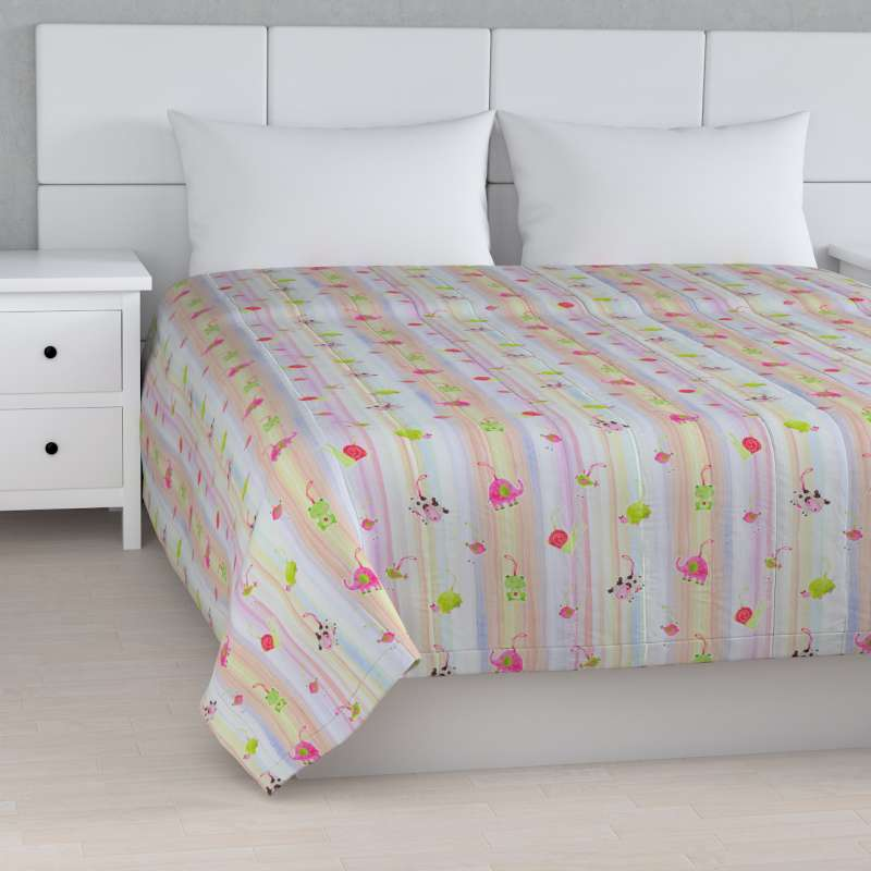 Stripe quilted throw in collection Little World, fabric: 151-05
