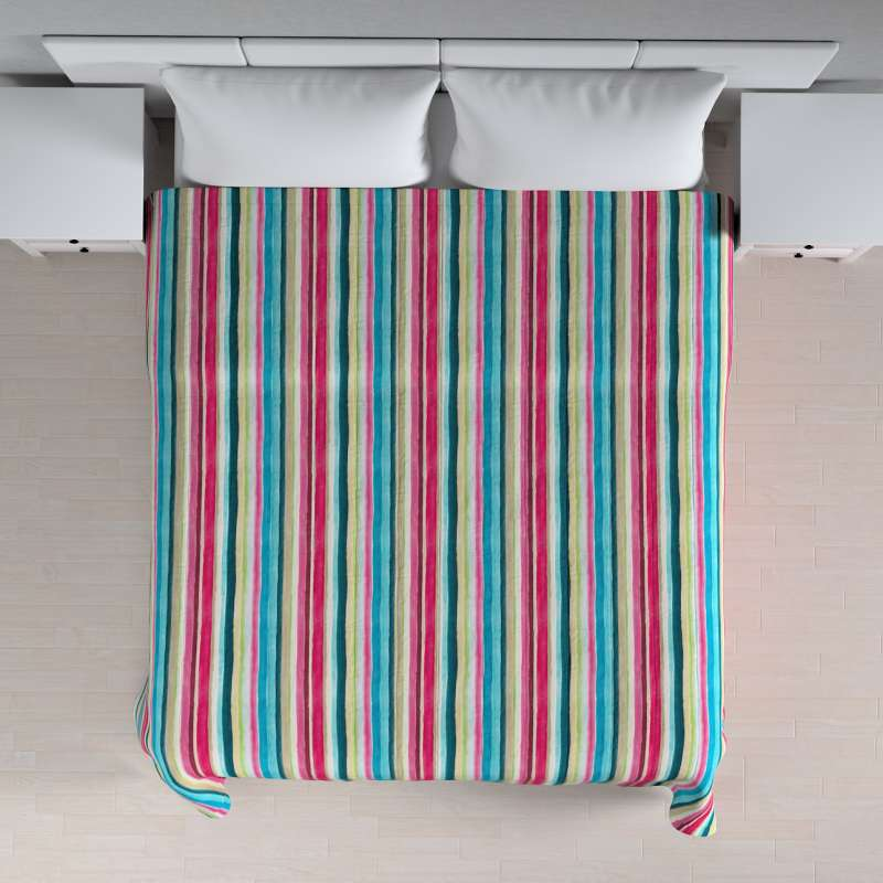 Stripe quilted throw in collection Monet, fabric: 140-09