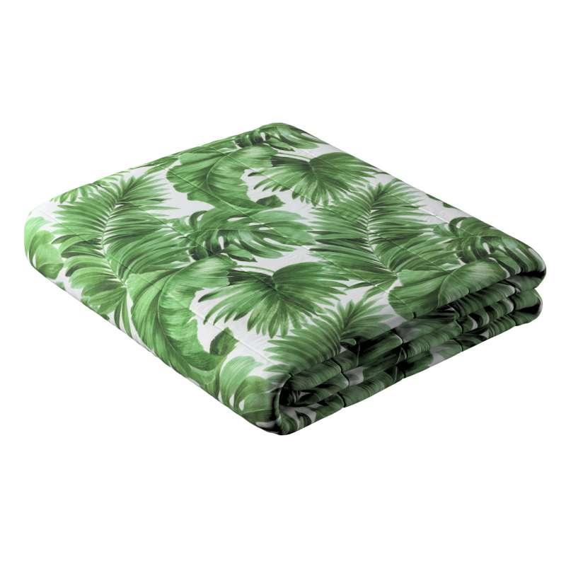 Sengetæppe quiltet<br/>10cm striber fra kollektionen Tropical Island, Stof: 141-71