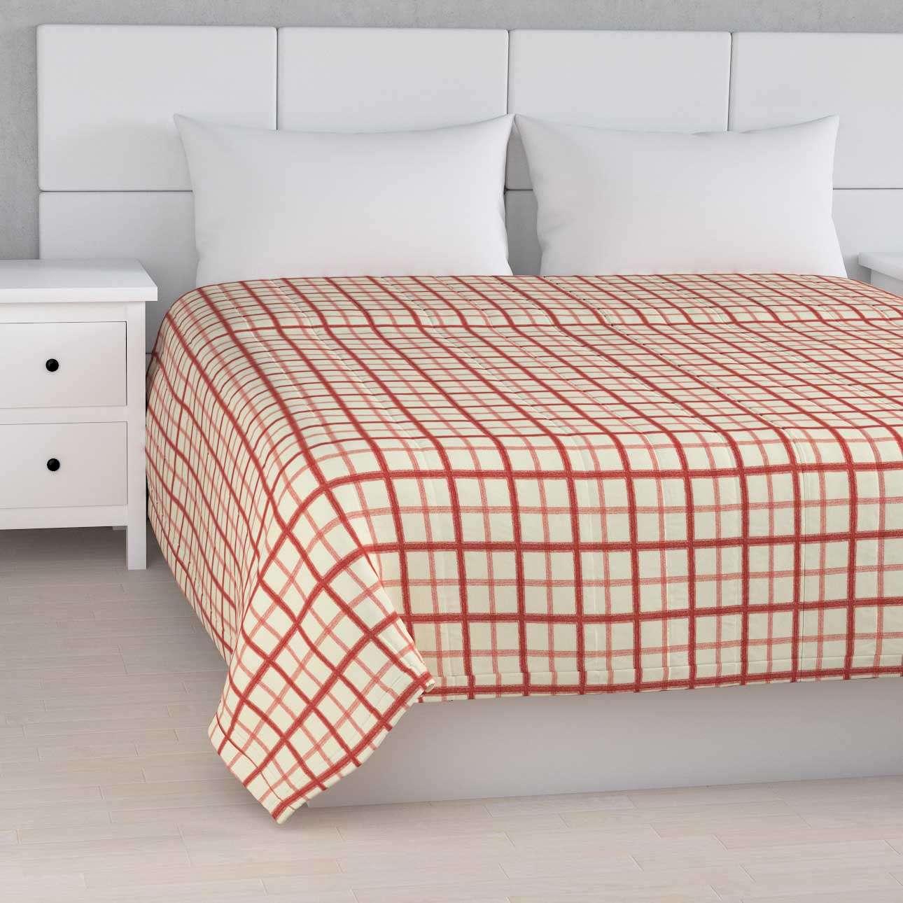 Sengeteppe quiltet<br/>10cm striper fra kolleksjonen Avinon, Stoffets bredde: 131-15