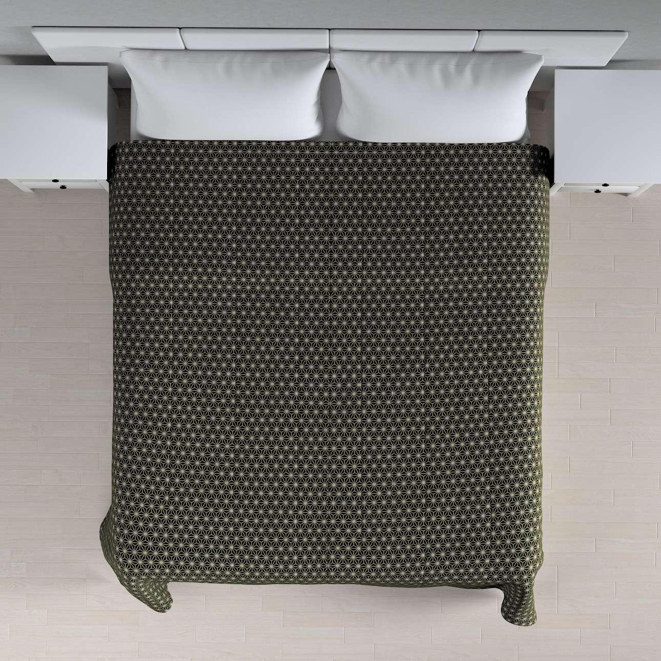 Sengeteppe quiltet<br/>10cm striper fra kolleksjonen Black & White, Stoffets bredde: 142-56