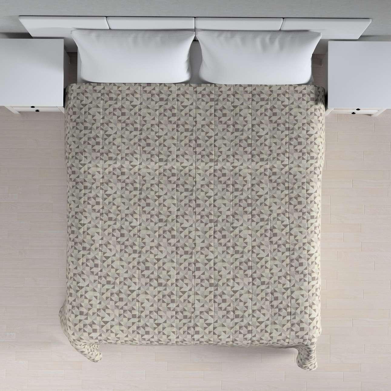 Sengeteppe quiltet<br/>10cm striper fra kolleksjonen Retro Glam, Stoffets bredde: 142-85