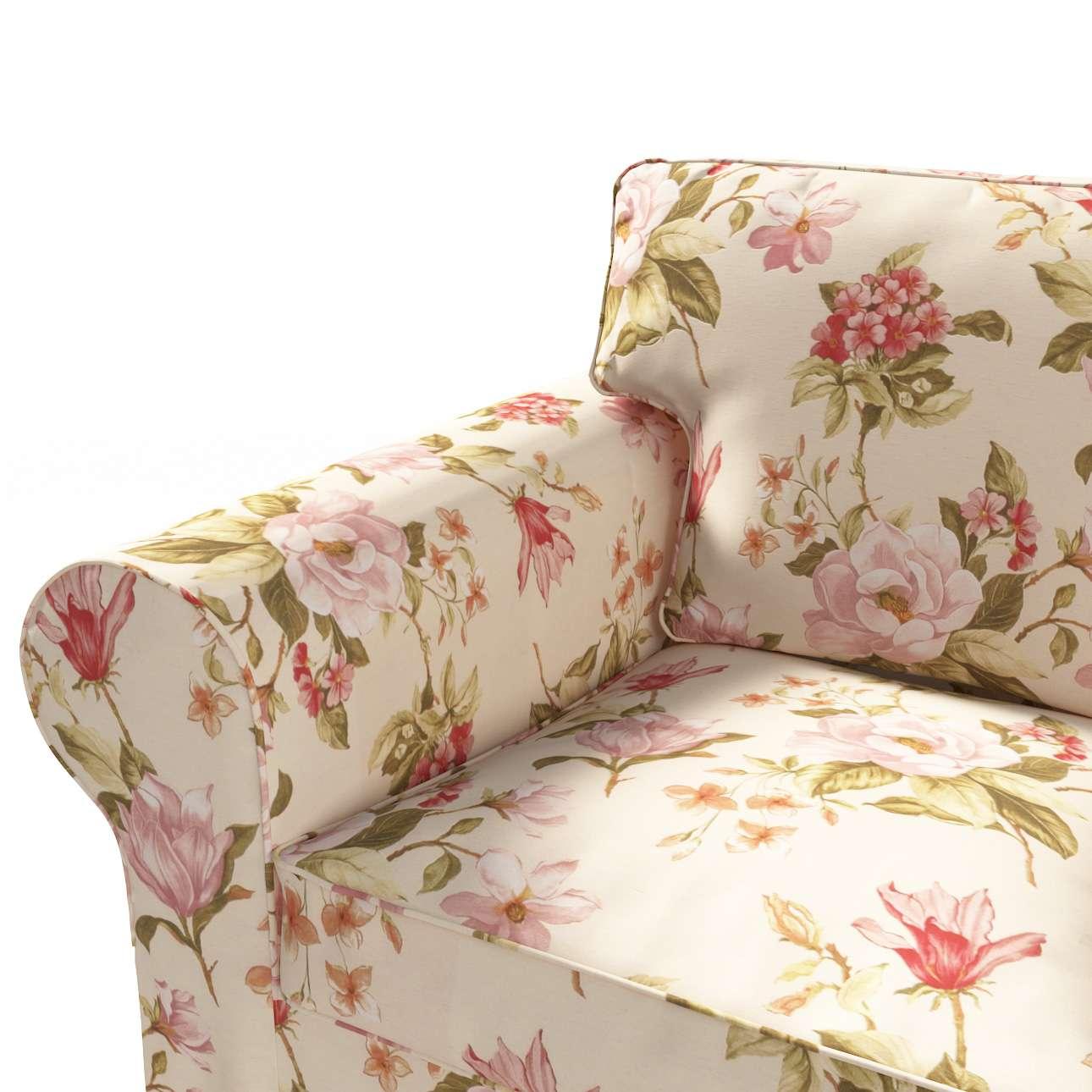 Ektorp trekk 3 seter sovesofa med boks for sengetøy fra kolleksjonen Londres , Stoffets bredde: 123-05