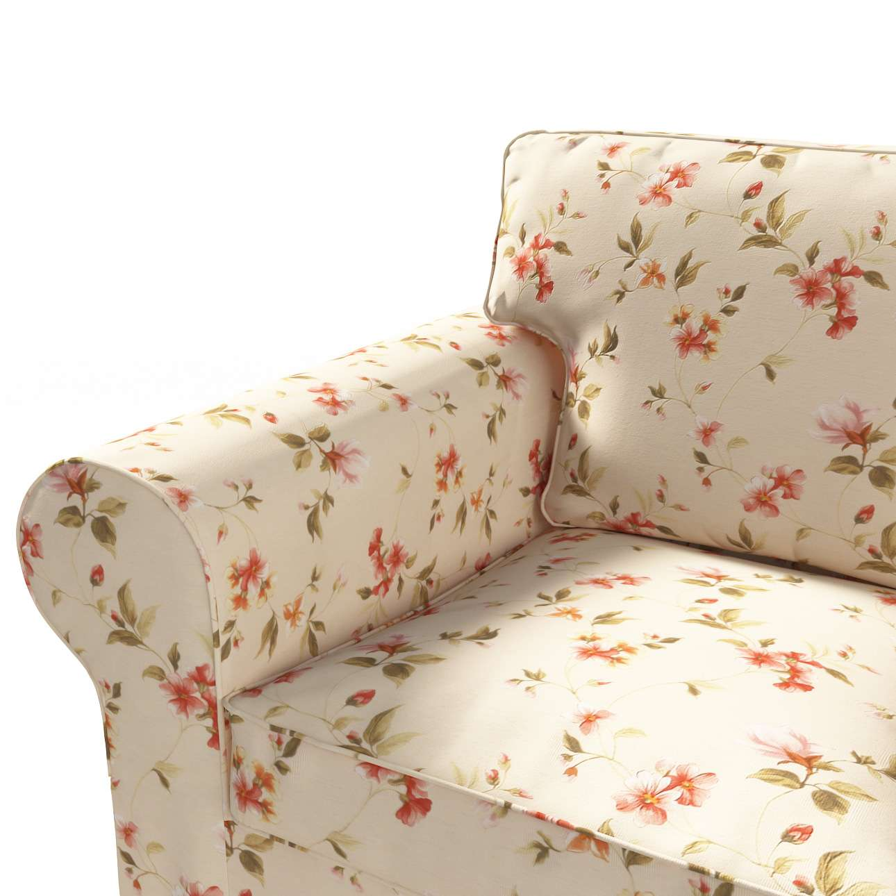 Ektorp trekk 3 seter sovesofa med boks for sengetøy fra kolleksjonen Londres , Stoffets bredde: 124-05