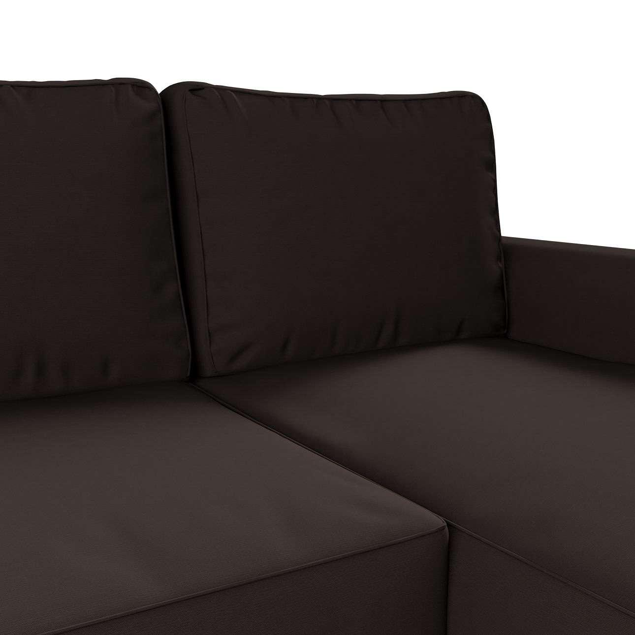 Pokrowiec na sofę Backabro rozkładaną z leżanką w kolekcji Cotton Panama, tkanina: 702-03