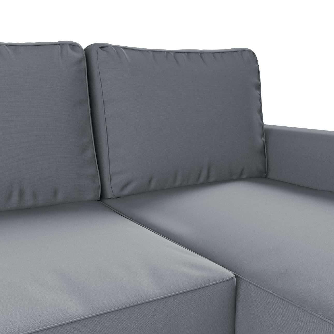 Pokrowiec na sofę Backabro rozkładaną z leżanką w kolekcji Cotton Panama, tkanina: 702-07