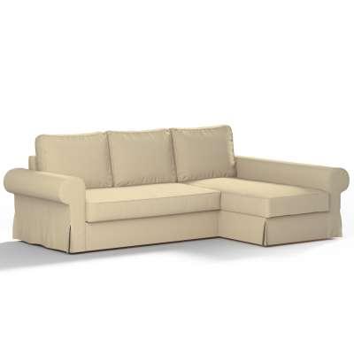 Pokrowiec na sofę Backabro rozkładaną z leżanką w kolekcji Chenille, tkanina: 702-22