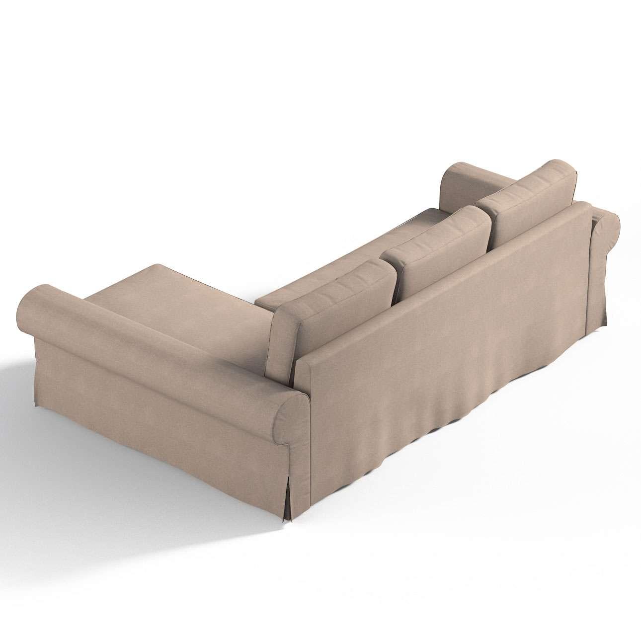 Pokrowiec na sofę Backabro rozkładaną z leżanką w kolekcji Etna, tkanina: 705-09