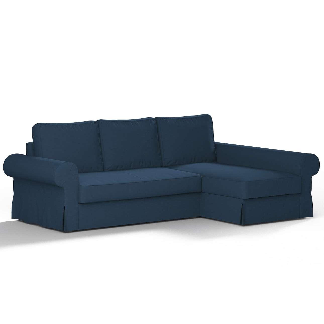 Backabro trekk 3 seter sovesofa med sjeselong<br/>Høyre og venstre fra kolleksjonen Cotton Panama, Stoffets bredde: 702-30