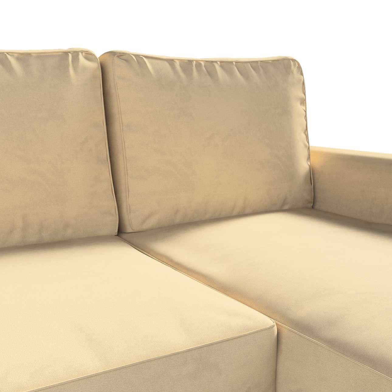 Pokrowiec na sofę Backabro rozkładaną z leżanką w kolekcji Living, tkanina: 160-82