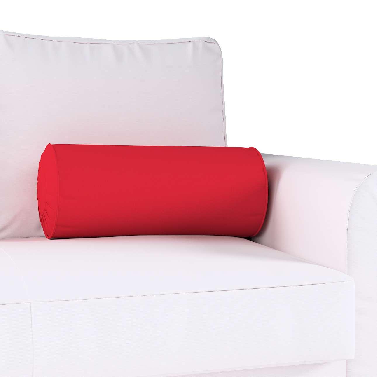 Poduszka wałek z zakładkami w kolekcji Cotton Panama, tkanina: 702-04