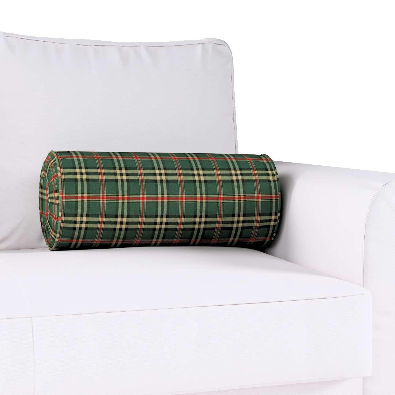 Poduszka wałek z zakładkami w kolekcji Bristol, tkanina: 142-69