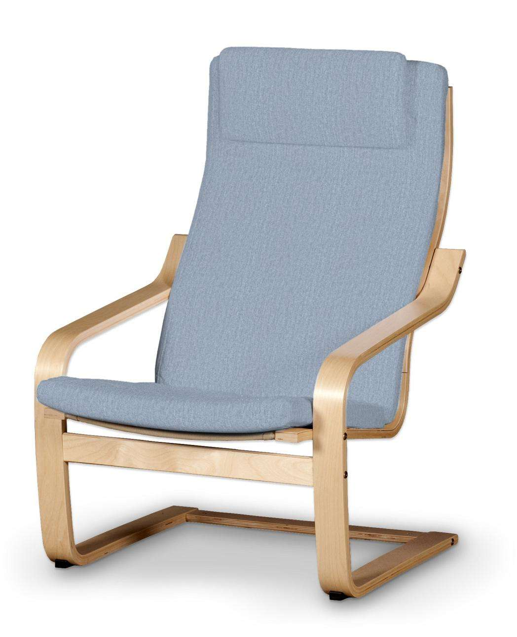 IKEA hoes voor stoel Poäng, zilver blauw, 702 13, Kussen