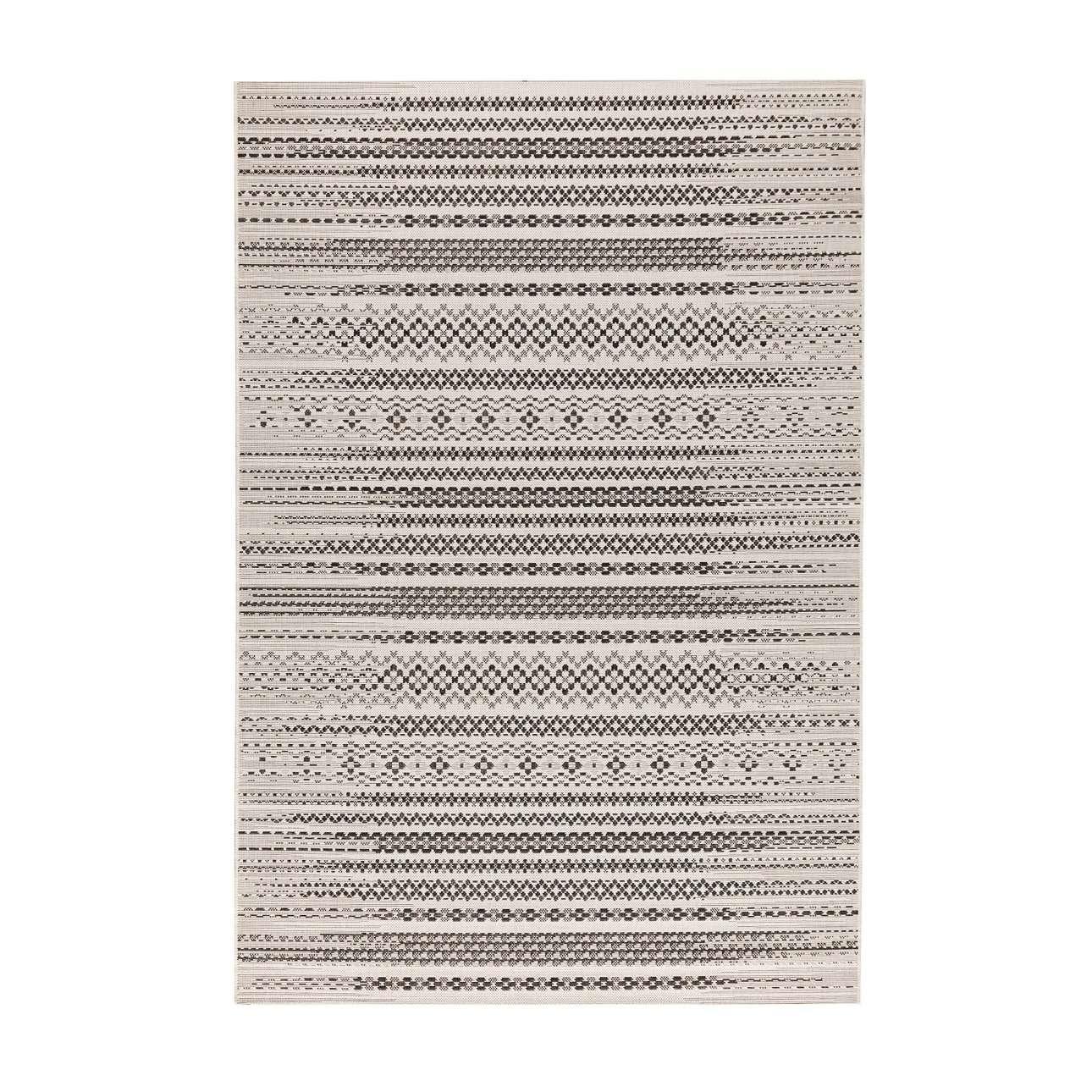 Dywan Modern Etno wool/ black  160x230cm