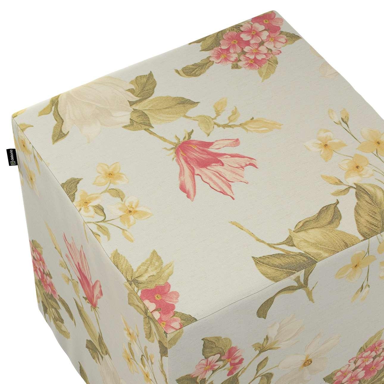 Taburetka tvrdá, kocka V kolekcii Londres, tkanina: 123-65