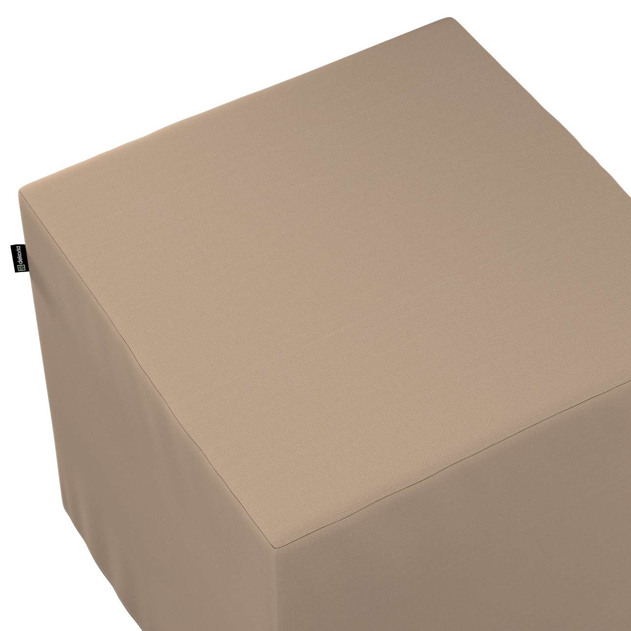 Taburetka tvrdá, kocka V kolekcii Cotton Panama, tkanina: 702-28
