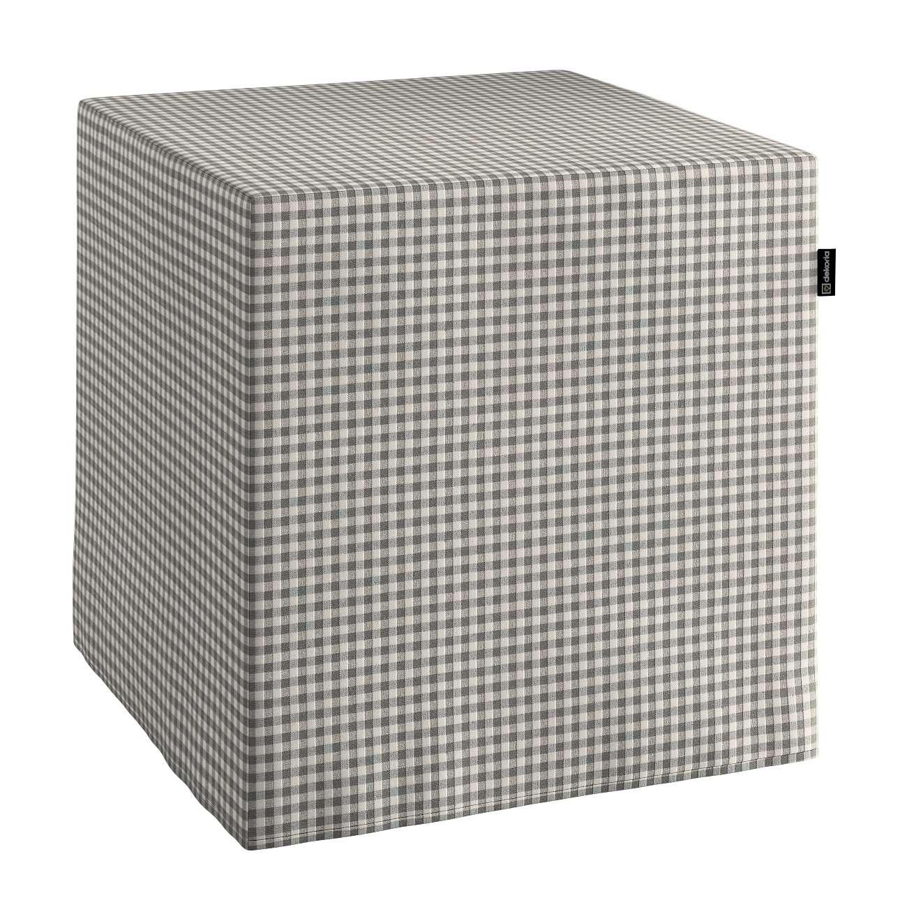 Taburetka tvrdá, kocka V kolekcii Quadro, tkanina: 136-10