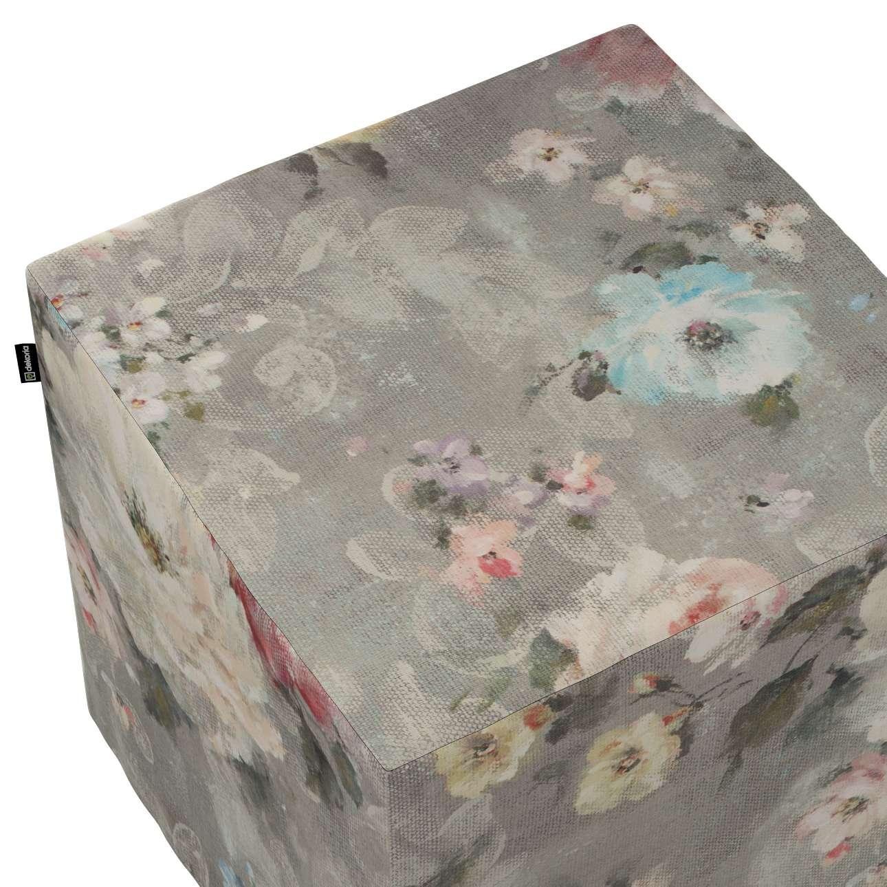 Sittepuff og Fotskammel fra kolleksjonen Monet , Stoffets bredde: 137-81