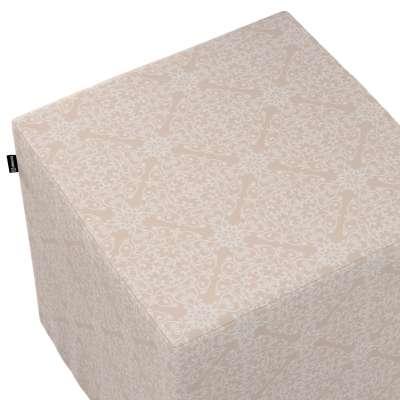 Taburetka tvrdá, kocka V kolekcii Flowers, tkanina: 140-39