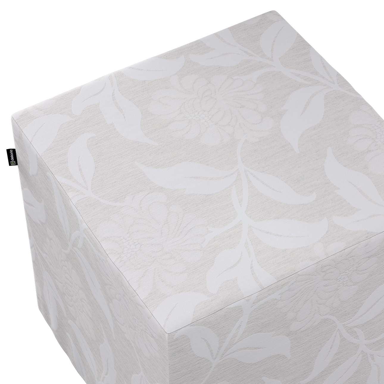 Taburetka tvrdá, kocka V kolekcii Venice, tkanina: 140-51