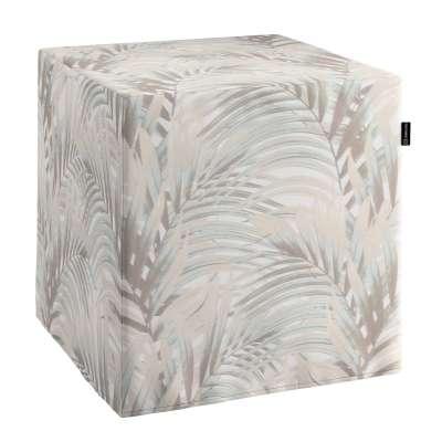 Taburetka tvrdá, kocka V kolekcii Gardenia, tkanina: 142-14