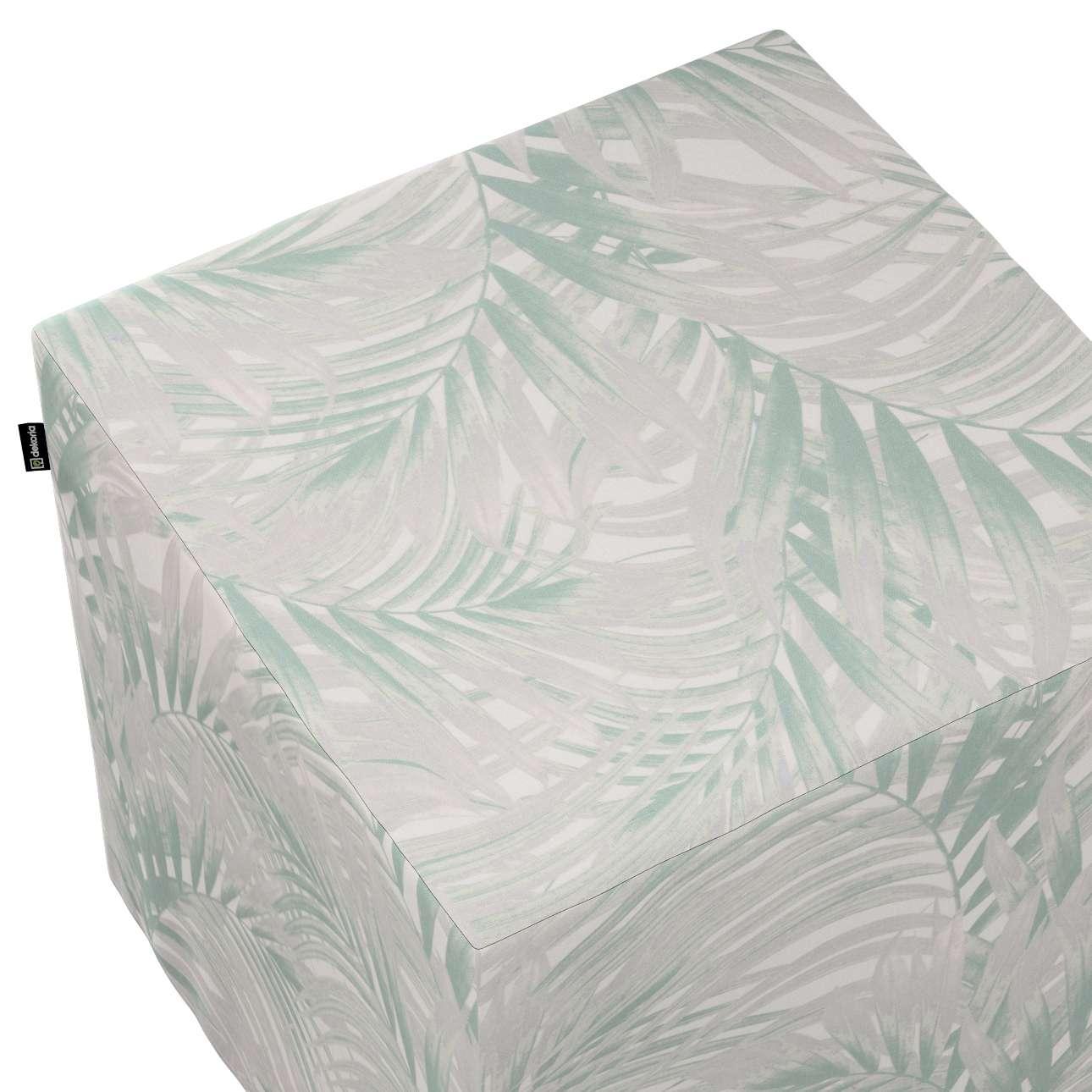 Taburetka tvrdá, kocka V kolekcii Gardenia, tkanina: 142-15