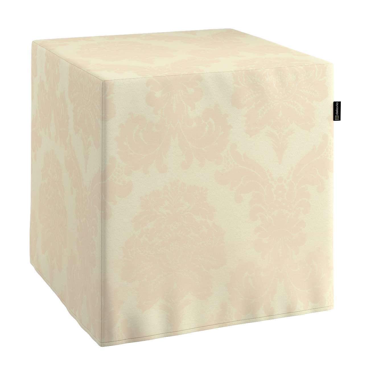Taburetka tvrdá, kocka V kolekcii Damasco, tkanina: 613-01
