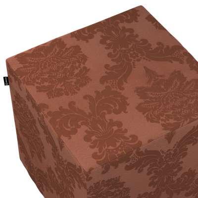 Taburetka tvrdá, kocka V kolekcii Damasco, tkanina: 613-88