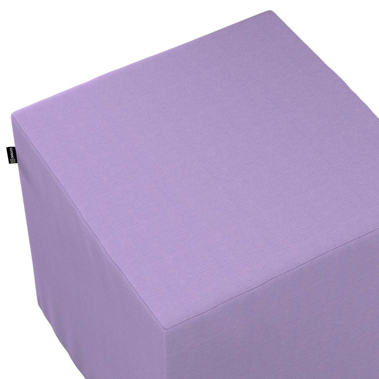 Taburetka tvrdá, kocka V kolekcii Jupiter, tkanina: 127-74