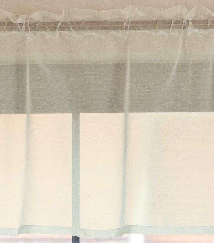 Gardinkappe i voile med rynkebånd og løpegang H50cm fra kolleksjonen Voile, Stoffets bredde: 900-01