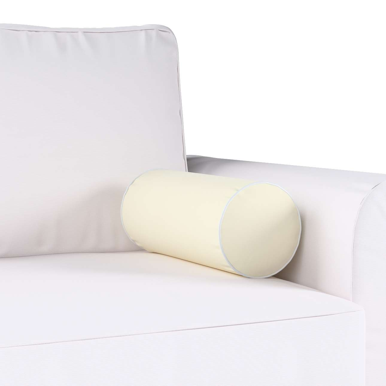 Velvety bolster with piping in collection Velvet, fabric: 704-10
