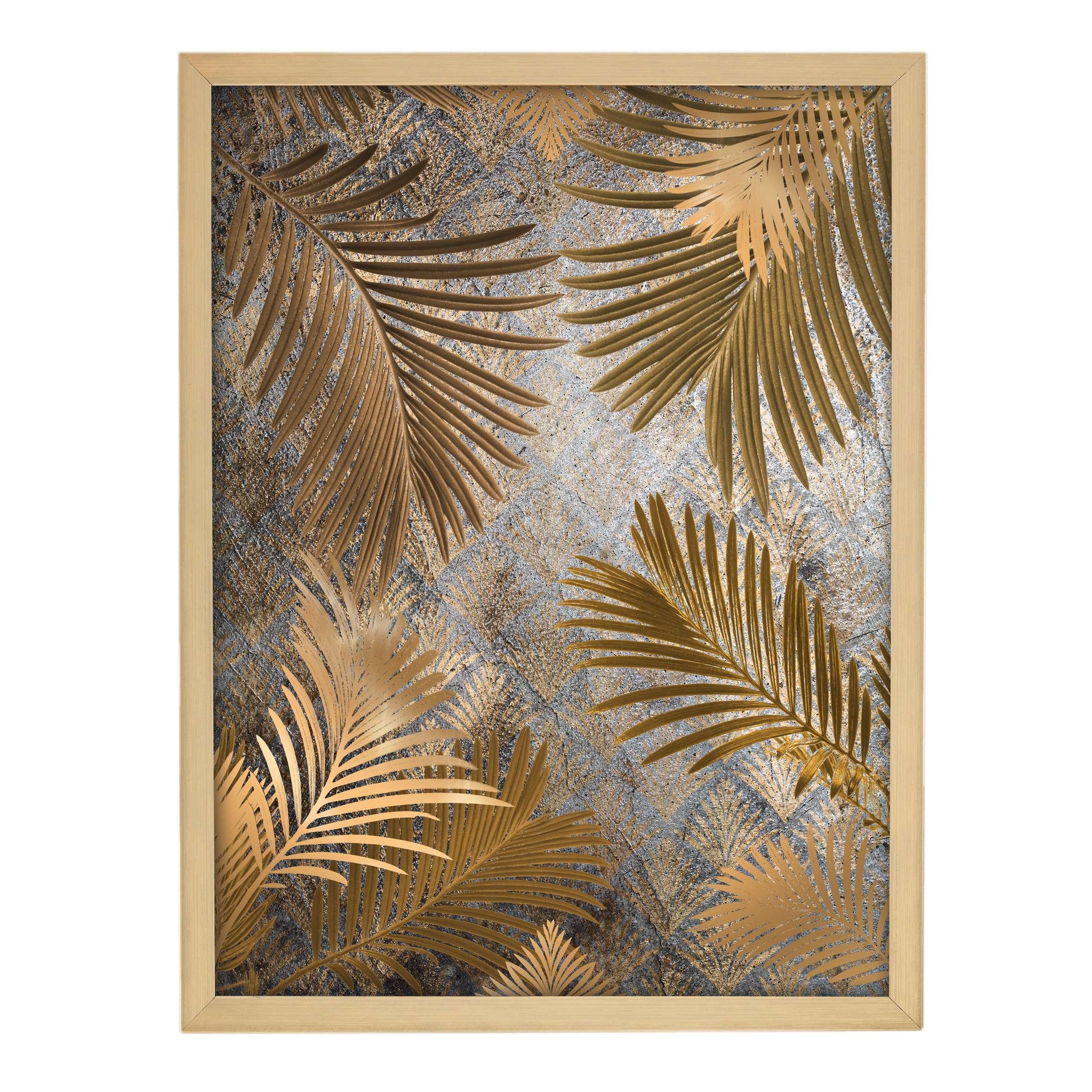 Wandbild Golden Leaves 30x40cm gold