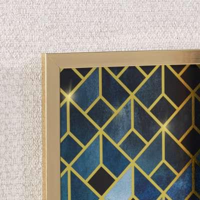 Obraz Geometric 30x40cm gold&navy