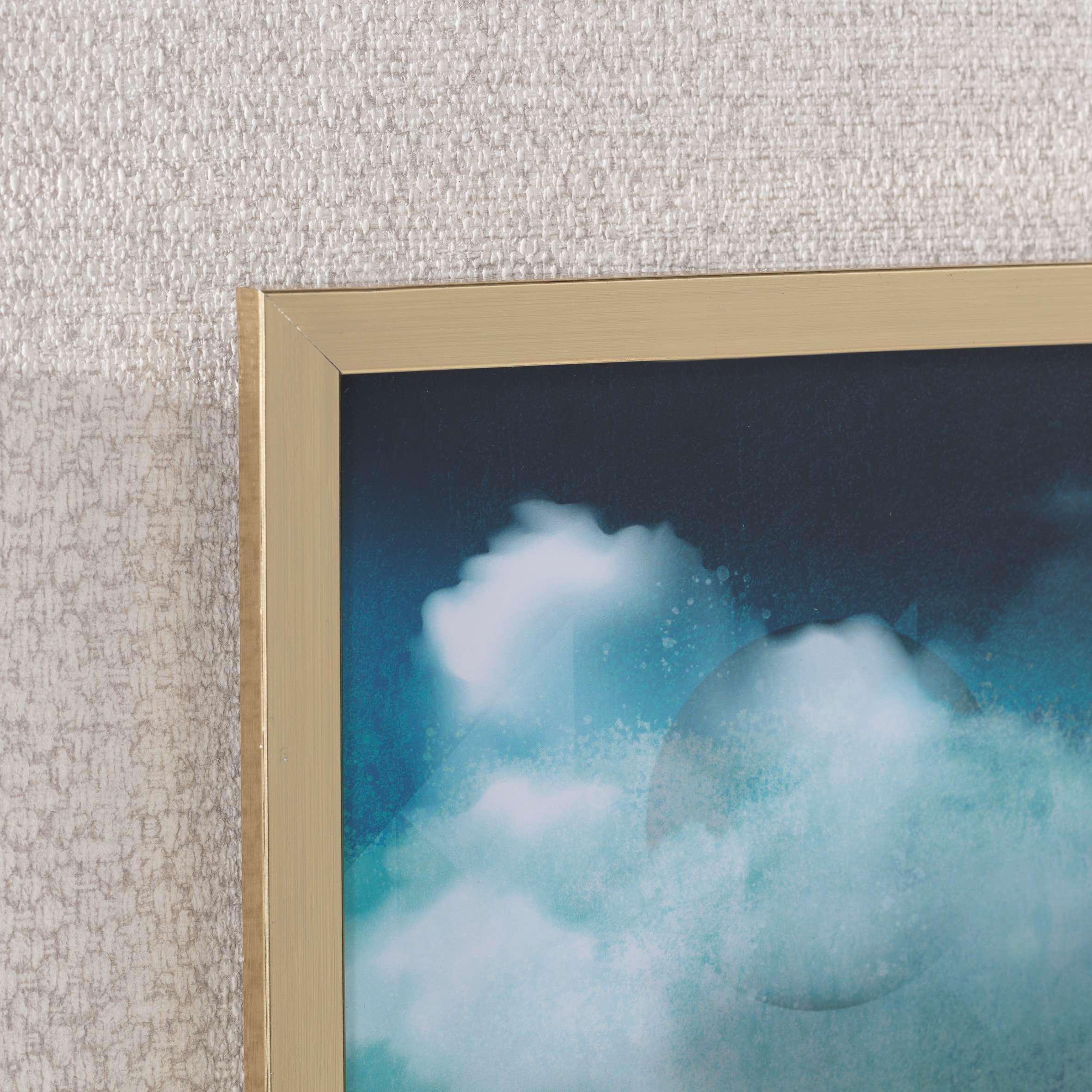 Obraz Impression 30x40cm gold&navy